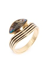 Women's Leith Genuine Abalone Wave Ring