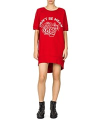 The Kooples Don't Be Mean Sweatshirt Dress Red