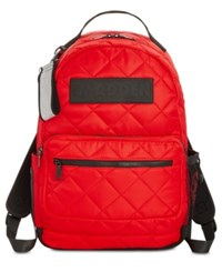 Steve Madden Austin Quilted Backpack Red