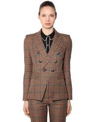 Veronica Beard Miller Wool Blend Prince Of Wales Blazer Beige