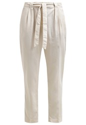 More And More Trousers Linen Off White