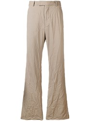 Marni Crinkled Trousers Nude And Neutrals