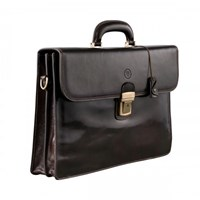 Maxwell Scott Bags Brown Mens Leather Briefcase For Men