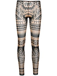 Dsquared2 Novelty Print Footless Tights Nude And Neutrals