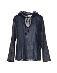 Leon And Harper Blouses Dark Blue