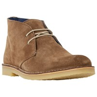 Dune Calabassas Lace Up Desert Boots Tan