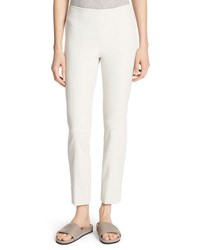 Vince Stitch Front Seam Leggings Off White