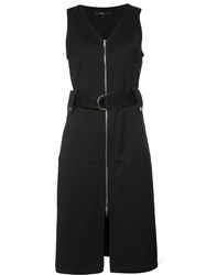 Derek Lam Front Zip Dress Black