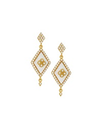 Freida Rothman Belargo Diamond Shape Drop Earrings