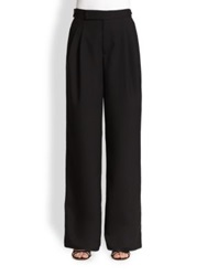 Marc Jacobs Wide Leg Wool Trousers Black