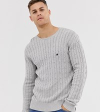 French Connection Tall Cable Crew Neck Jumper Grey