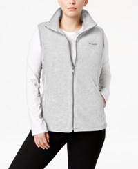 Columbia Plus Size Benton Springs Fleece Vest Sea Salt
