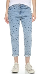 Maison Scotch Polka Dot Boyfriend Jeans Denim