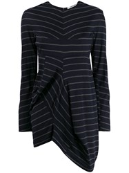 Chalayan Striped Print Knitted Top Blue