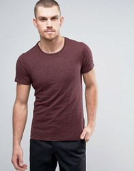 Casual Friday T Shirt In Stripe Cranberry Red
