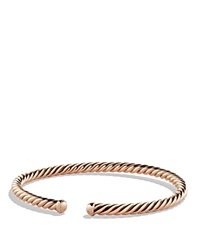 David Yurman Precious Cable Cablespira Bracelet In Rose Gold