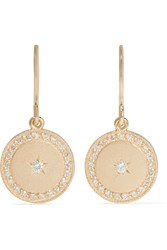 Andrea Fohrman Phases Of The Moon 18 Karat Gold Diamond Earrings
