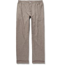 Sleepy Jones Leepy Jone David Coggin Houndtooth Cotton Flannel Pyjama Trouer Dark Brown