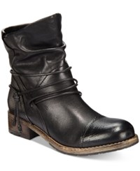 Clarks Women's Volara Dina Slouchy Booties Women's Shoes Black Leather