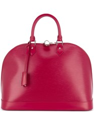 Louis Vuitton Vintage Alma Gm Tote Bag Red