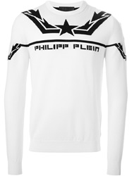 Philipp Plein 'Enough Said' Sweater White