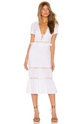 Privacy Please Clemente Midi Dress White