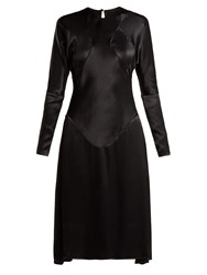 Vivienne Westwood Panelled Long Sleeved Satin Dress Black