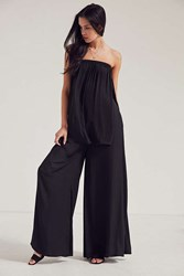 Silence And Noise Lizzie Strapless Two Piece Set Black