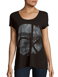 Ck Calvin Klein Weathered Signature Graphic T Shirt Black
