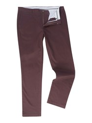 Linea Chelsea Regular Fit Chino Trousers Red