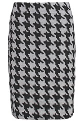 Anna Field Pencil Skirt Black Light Grey White