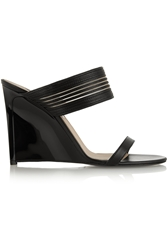 Diane Von Furstenberg Valencia Leather Wedge Sandals