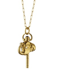 Monica Rich Kosann Mini Luck Elephant Diamond Key Necklace
