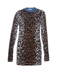 Stella Mccartney Leopard Jacquard Long Sleeved Sweater