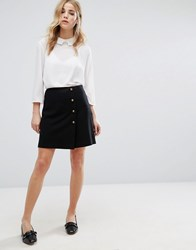 New Look Military Mini Skirt Black