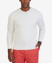 Nautica Men's V Neck Sweater Marshmallow