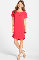 Halogen High Low Shift Dress Regular And Petite Red