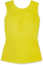 Safiyaa Riddhi Open Back Belted Crepe Top Lime Green