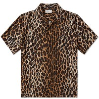 Saint Laurent Leopard Print Surf Shirt Multi