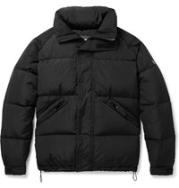 Sandro Shell Quilted Down Jacket Black