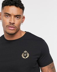 Sik Silk Siksilk X Dani Alves Muscle Fit T Shirt With Small Logo Black