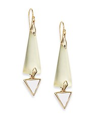 Alexis Bittar Lucite Geometric Drop Earrings Ivory