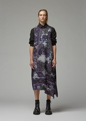 Yohji Yamamoto Left Flare Sleeveless Dress Purple