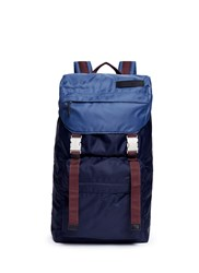 Marni Colourblocked Tech Fabric Backpack Blue