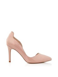 Reiss Blake High Heel Court Shoes Pink