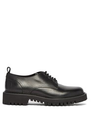 Valentino Vlogo Leather Derby Shoes Black