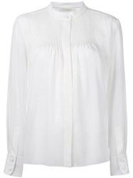 Chloe Pintuck Tailored Blouse White