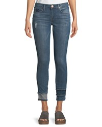 True Religion Jennie Curvy Skinny Jeans With Hem Detail Blue