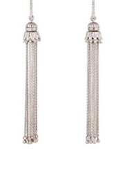 Sara Weinstock Women's White Diamond And White Gold Tasseled Earrings Co Colorless