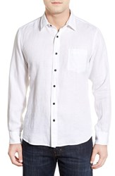 Men's Toscano Regular Fit Linen Sport Shirt